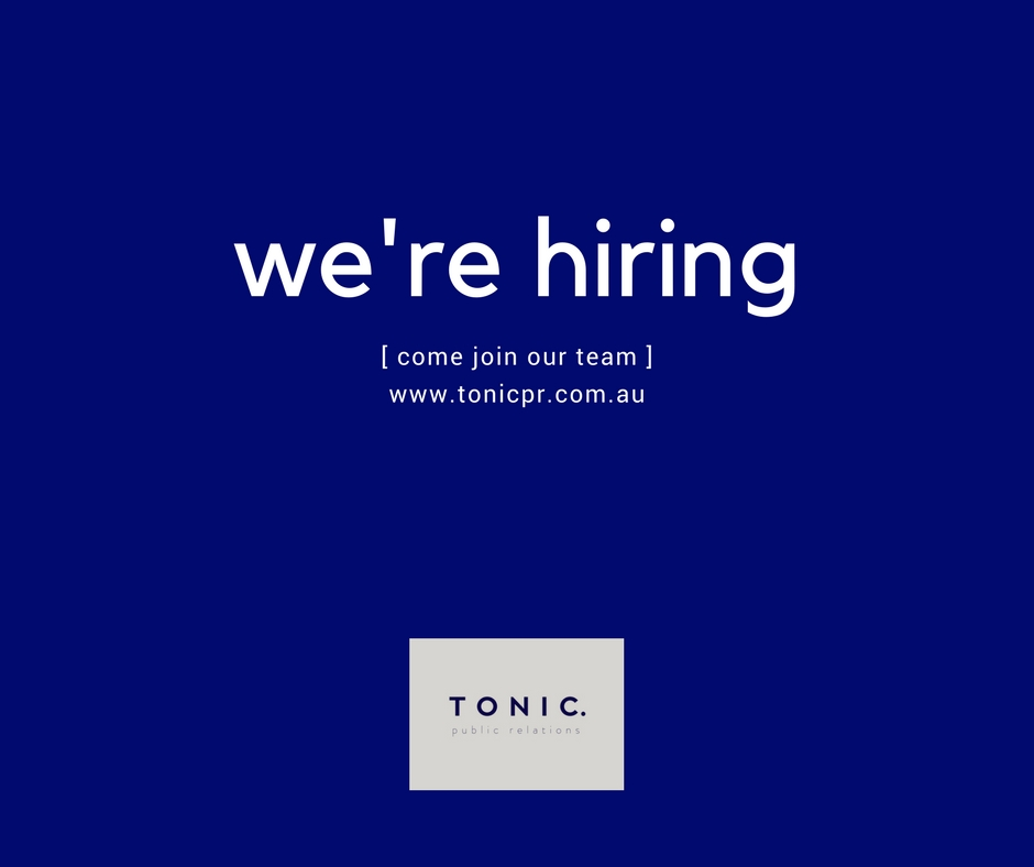 Want to join team Tonic?